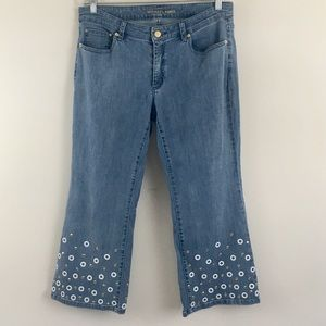 Michael Kors Embellished Izzy Cropped Flare Jeans